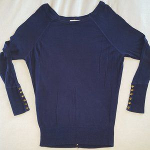 if it were me Navy Blue Button Up Sweater XS